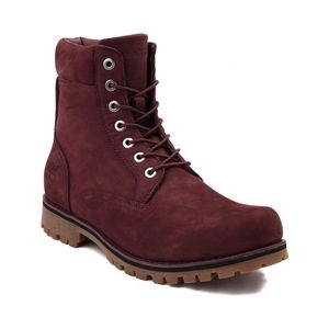 "Timberland 6"" suede NewMarket boots burgundy color"